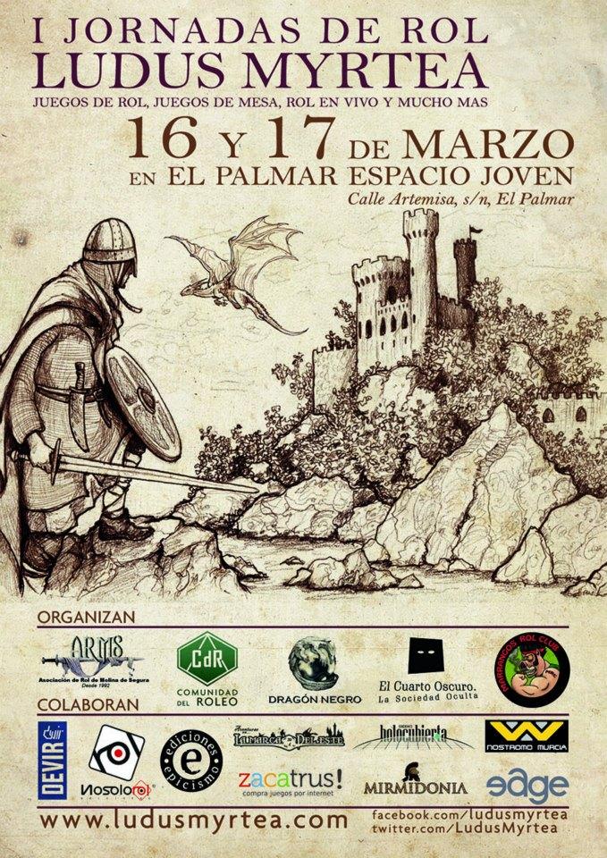 I Jornadas de Rol Ludus Myrtea en El Palmar   El Palmar (Murcia)